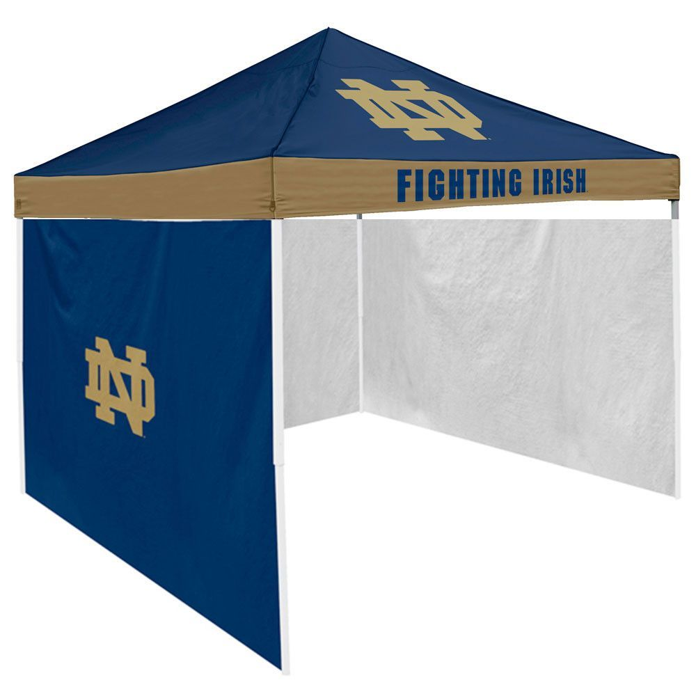 Mississippi Rebels Ncaa X Solid Color Pop-up Tailgate Canopy Tent With Side Wall  sc 1 st  Pinterest & Notre Dame Fighting Irish NCAA 9u0027 x 9u0027 Economy 2 Logo Pop-Up ...