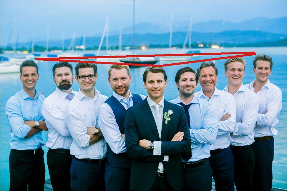 Männer-Gruppenfoto