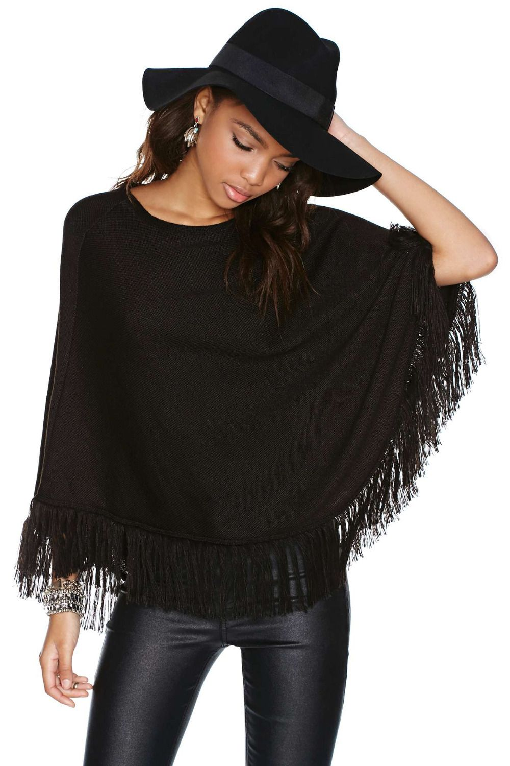 Find More Sweaters Information about Autumn Black Knitwear Women ...