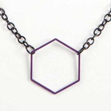 Hexagon Necklace  by Lindsey McCartney