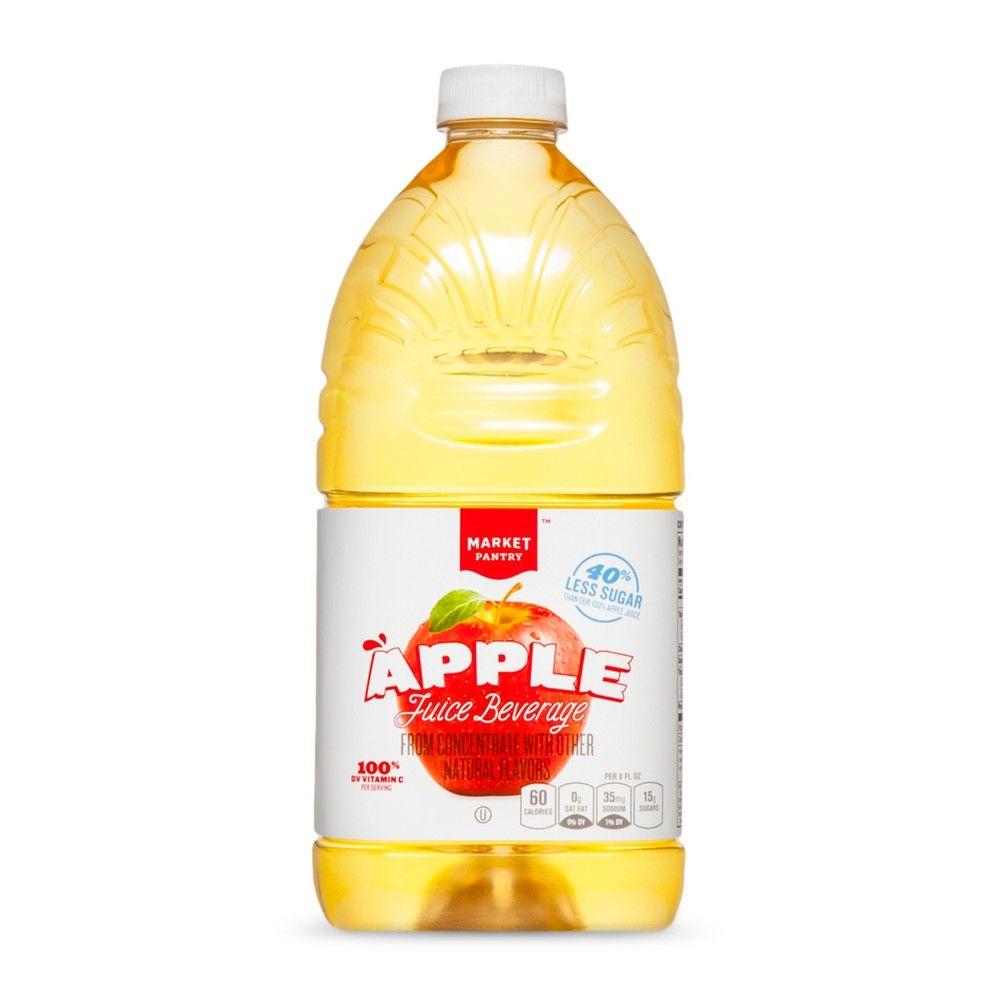 Reduced Sugar Apple Juice 64 fl oz Bottle Market