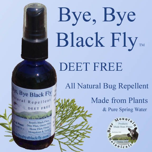 All Natural Insect Repellent Made From Pure Maine Spring Water
