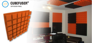 The CUBEFUSER® acoustic panel is one of the least expensive diffusers of our brand. It is cubic shaped and is made of high quality 100% recyclable ecologic EPS raw material.    This model can be combined with the CUBESORB®; as a result, two different acoustic areas keep maintaining the same shape.