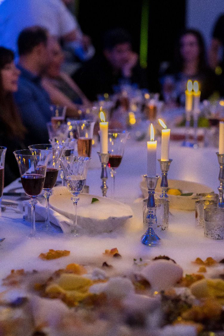 Mysterious dinner party using dry ice  Halloween dinner, Wedding
