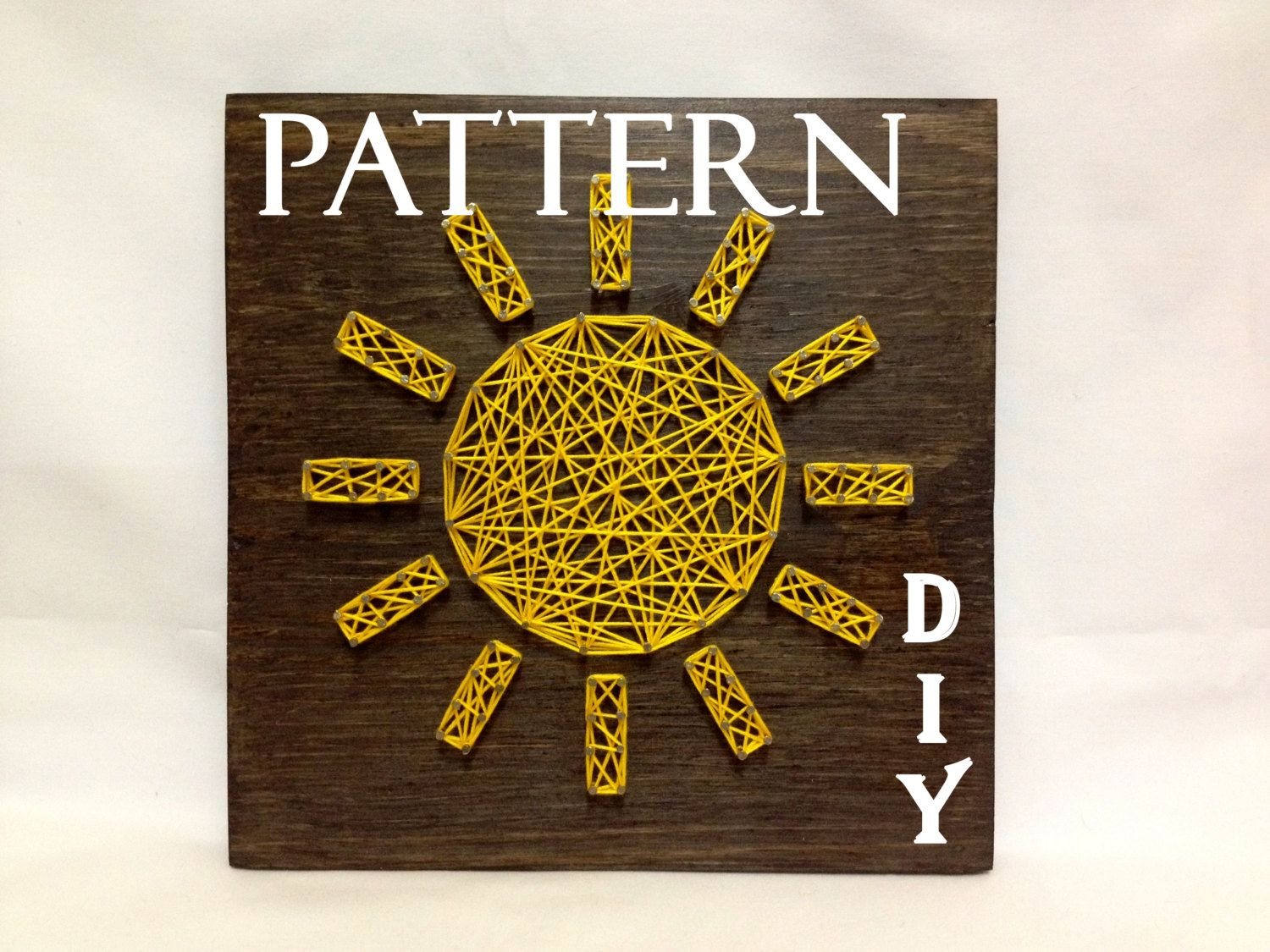 DIY String Art Pattern Sun Sunshine, Pattern and tutorial, Included ...