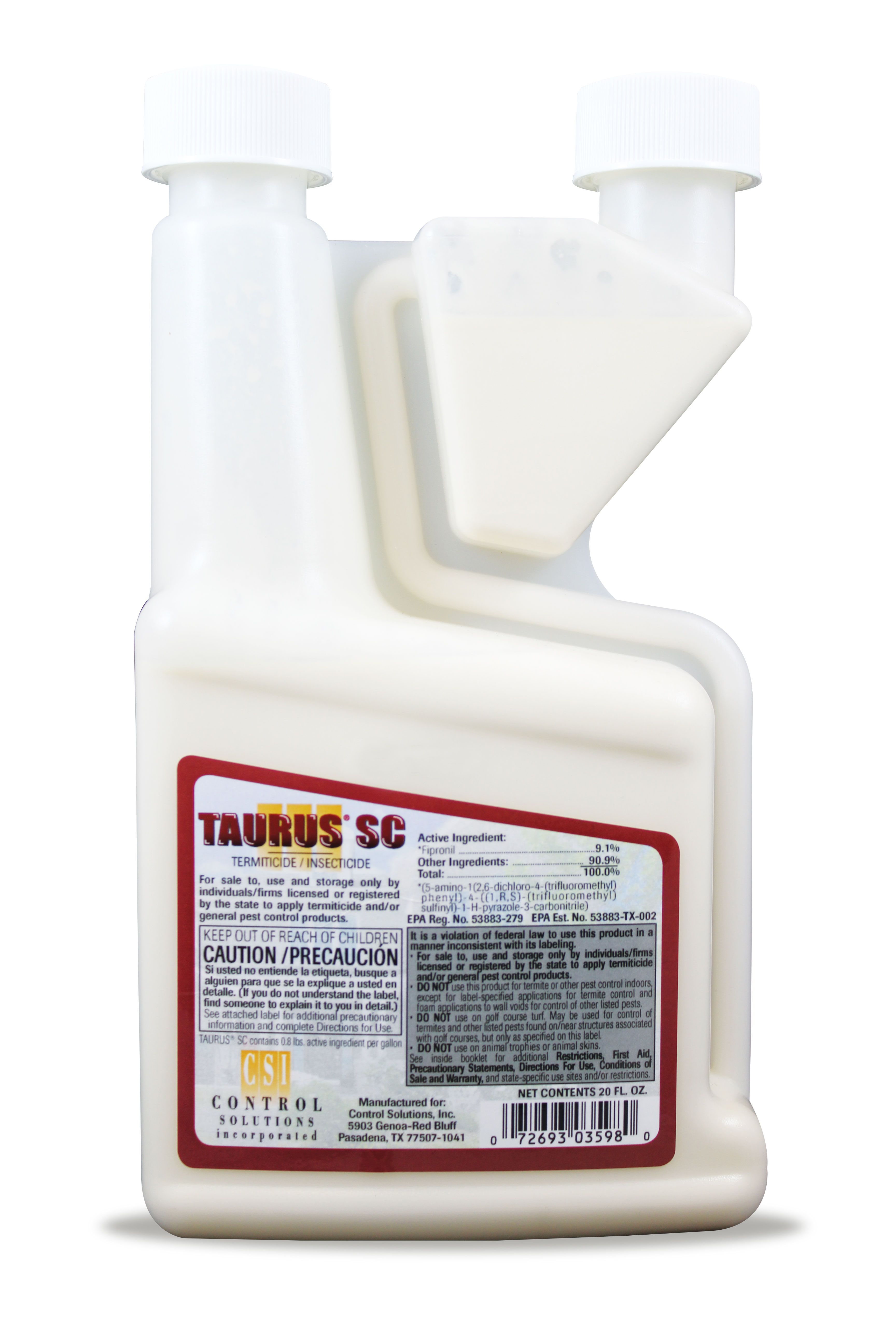 TAURUS SC is a water-based suspension concentrate of 9 1% Fipronil