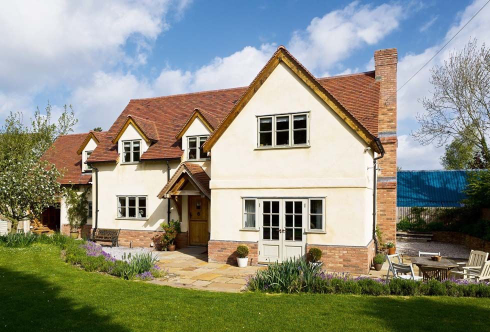 An oak frame self build home combining traditional style with