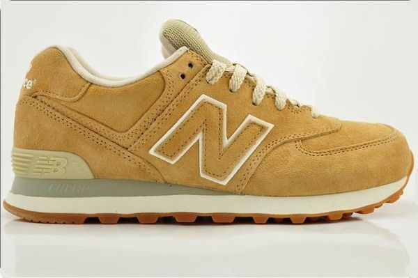 low priced b0268 c859a Joes New Balance ML574NBE Sneakers Suede Brown Yellow Mens Shoes
