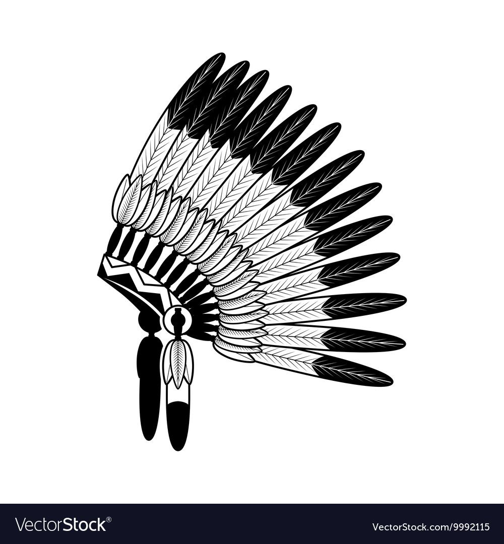 American Indian feathers war Royalty Free Vector