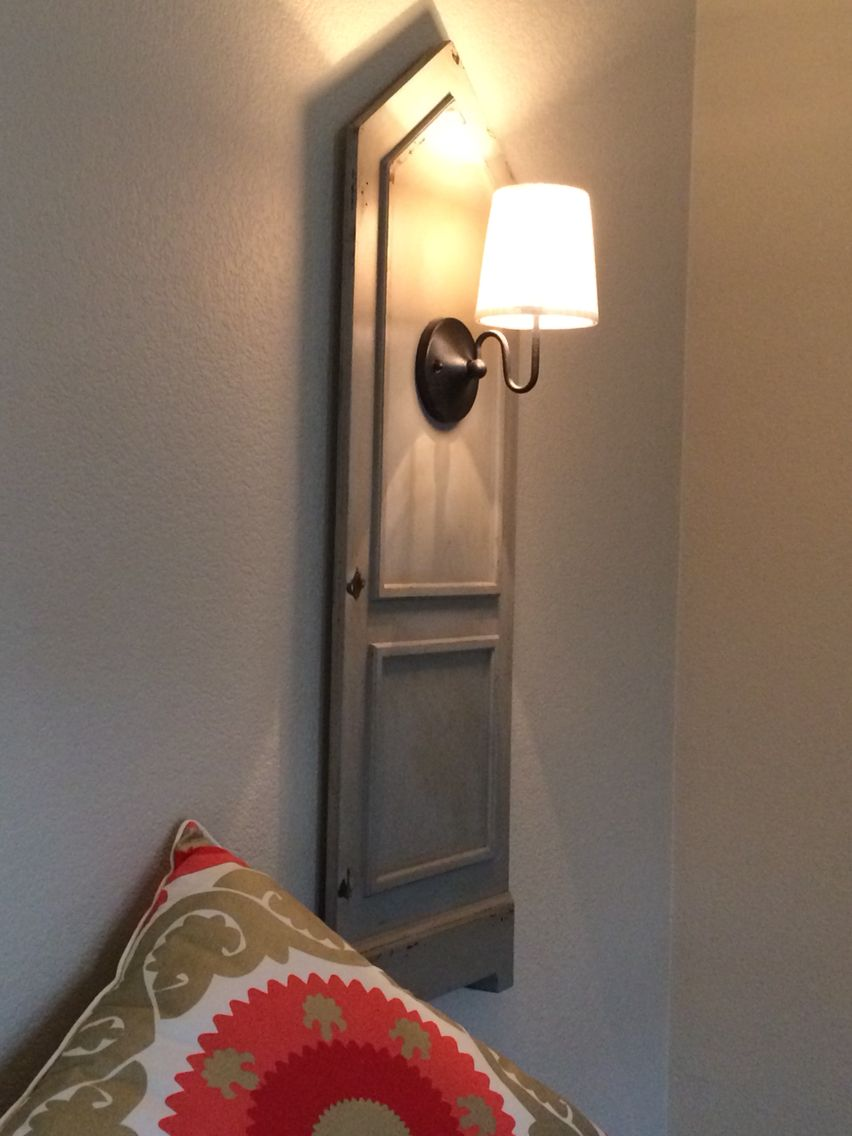 Excellent Wall Sconce Solution No Wire Showing Under Shutters Wireless Wiring Digital Resources Bioskbiperorg