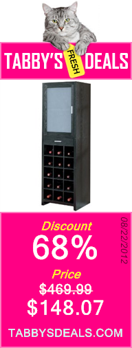 Organize It All Dusk 15-Section Wine Cabinet $148.07