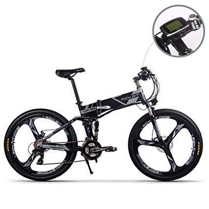 Rt860 Electric Folding Mountain Bike Mens Bicycle Mtb 250w 36v