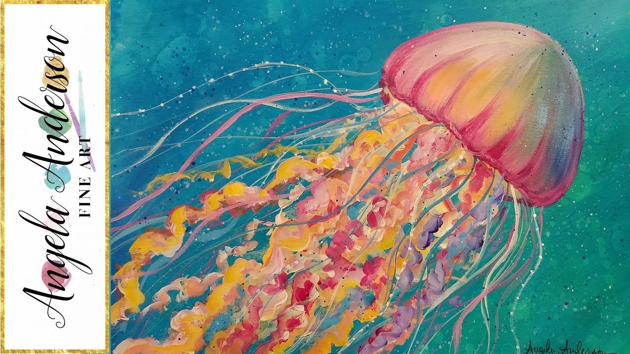 Jellyfish Acrylic Painting Tutorial Ocean Sea Life LIVE ...