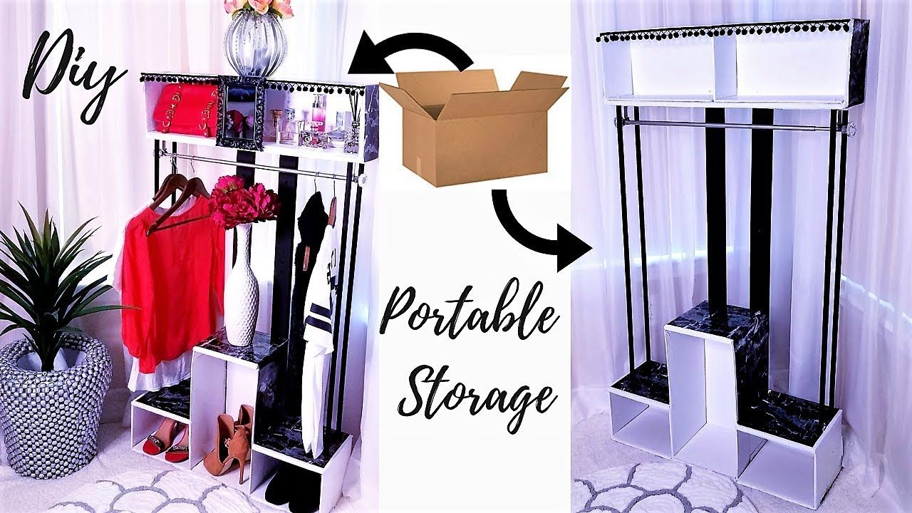 DIY PORTABLE CLOSET FOR SMALL SPACES! INEXPENSIVE STORAGE ...