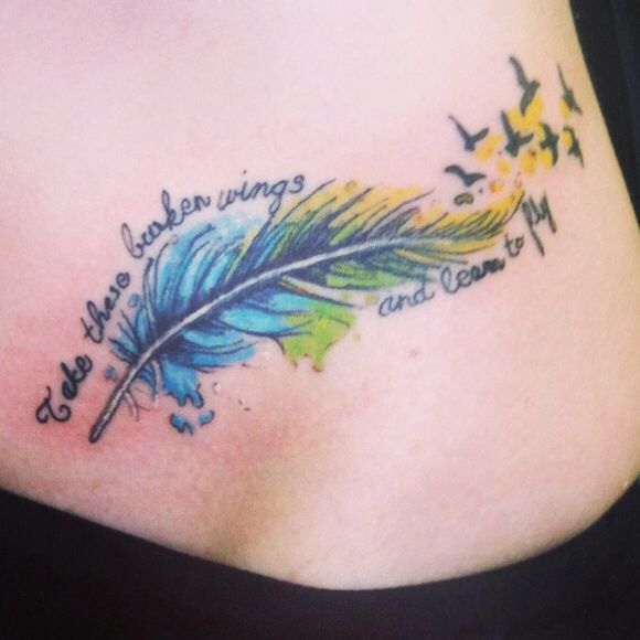 Tattoo number 3 feather tattoo feather watercolor for Learn to do tattoos