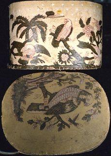 Bandbox And Lid, ca. 1820