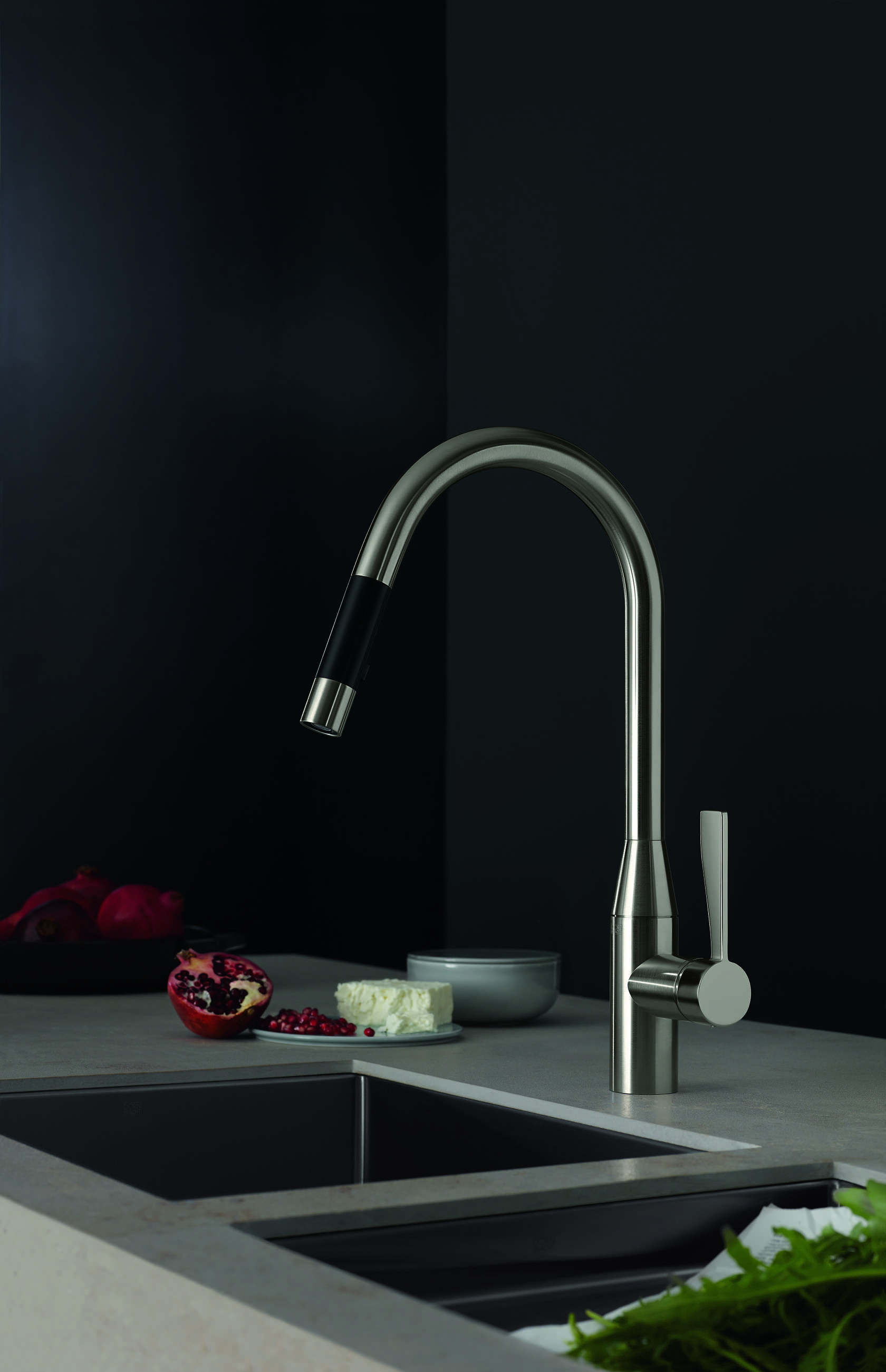 The new pulldown kitchen faucets by Dornbracht from the Sync and ...