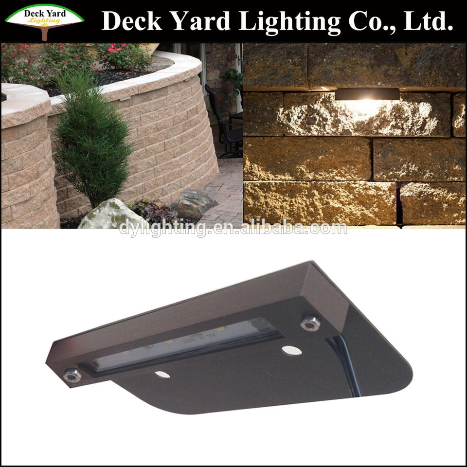3000k Led Hardscape Fixture Low Voltage Hardscape Light With Bracket Brass 12v Led Wall Light 12v Led Under Cap Lights Yard Lights Hardscape Wall Lights