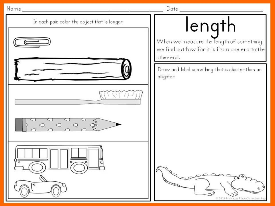 Capacity Non Standard Measurement for Kindergarten Grade One – Measurement Worksheets for Kindergarten