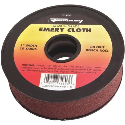 Forney Premium Grade Emery Cloth, Silver