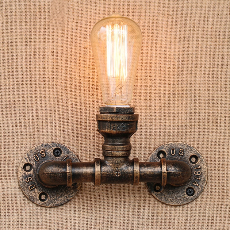 44.99$  Buy now - http://ali1qw.worldwells.pw/go.php?t=32744119125 - RH Nordic Country Loft Wall Lamps Creative Vintage Wall Sconces RetroBedside Light Fixtures For Home Lighting Cafe Living Room