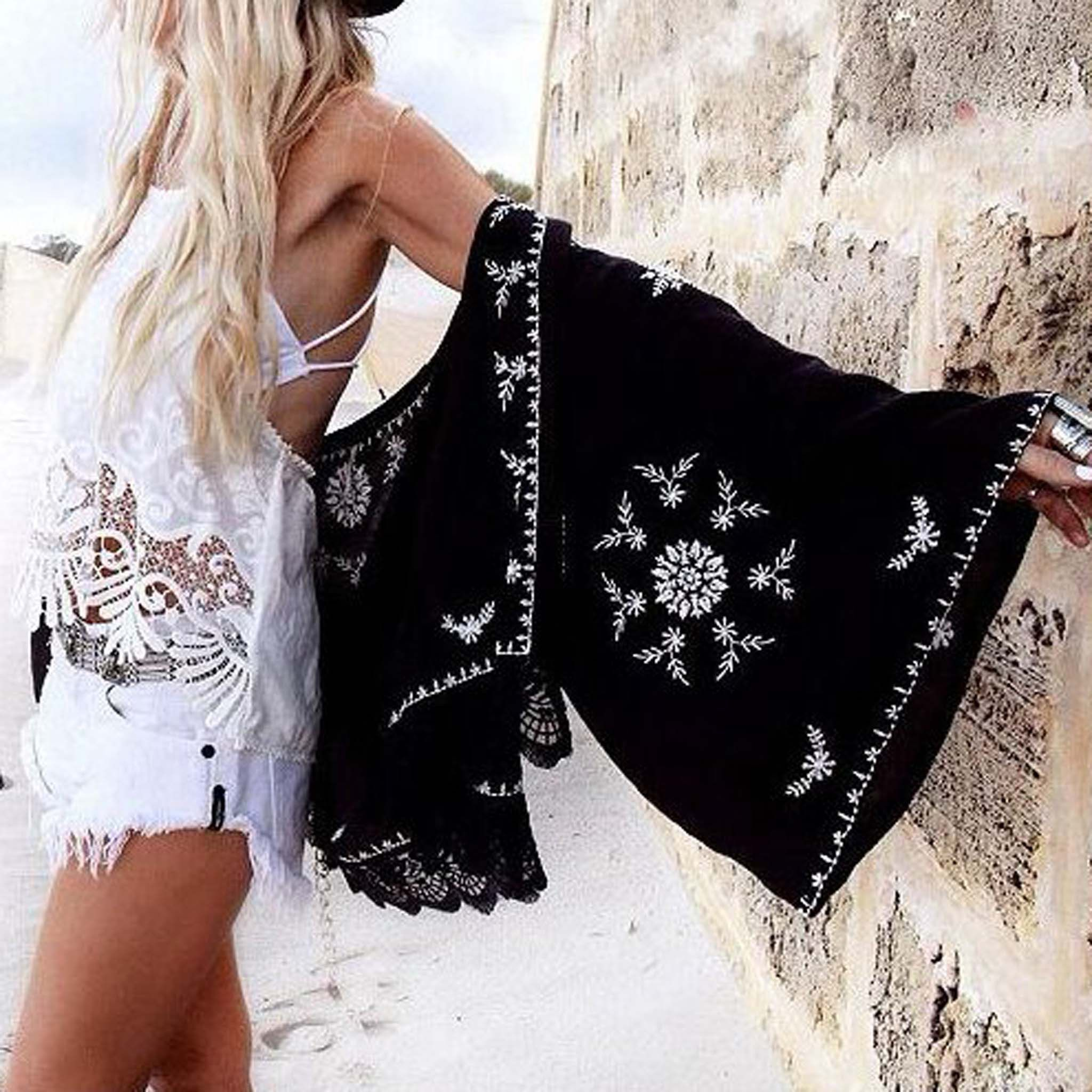 Fable Lace Duster, Boho Summer Dusters from Spool 72 #whiteembroidery
