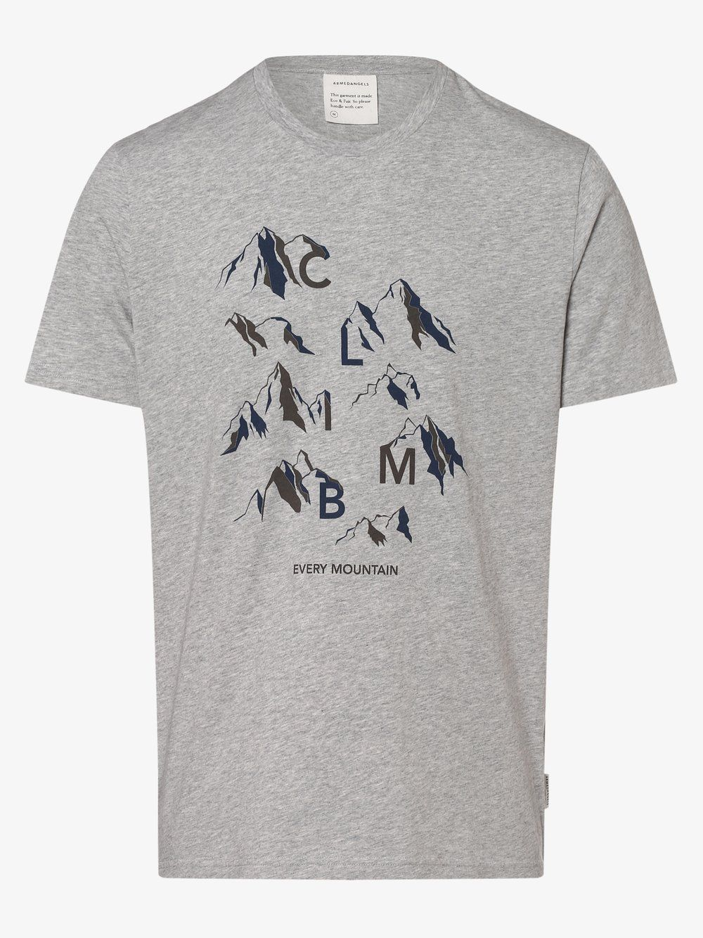 ARMEDANGELS T Shirt Jaames Climb Mountain grau in 2020