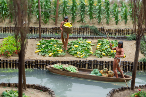 inca terrace farming model | Aztec Chinampas Aztec ...