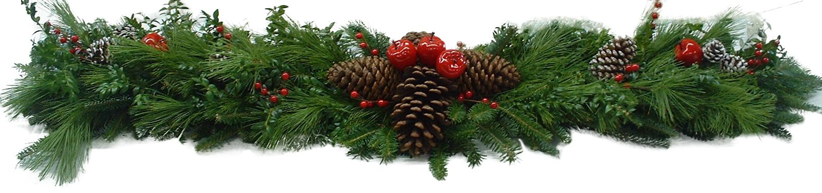 Small Christmas Bough With Berries Decoration