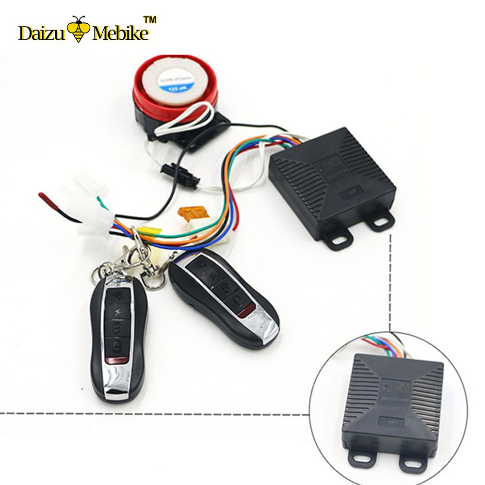 Best Price 36v48v60v Electric Scooter Alarm Lock Anti Theft Security Bicycle Circuit Safety Remote Control System
