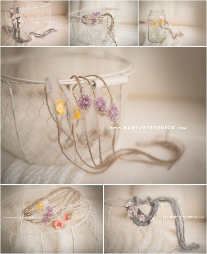 Newborn headbands photography props baby joy studios