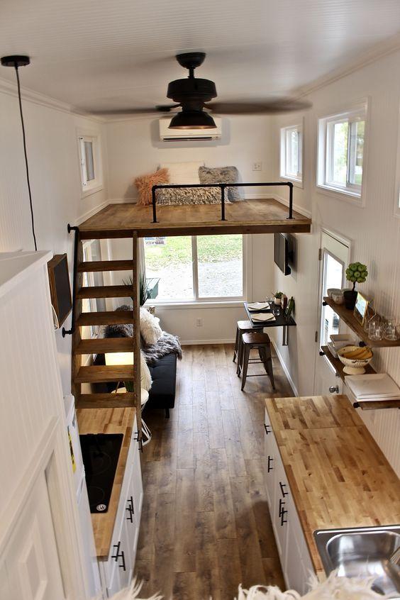Küçük Bir Evde Yaşamayı Merak Edenlere 18 İç Mimari Harikası Küçük Ev #bedroomdesignminimalist
