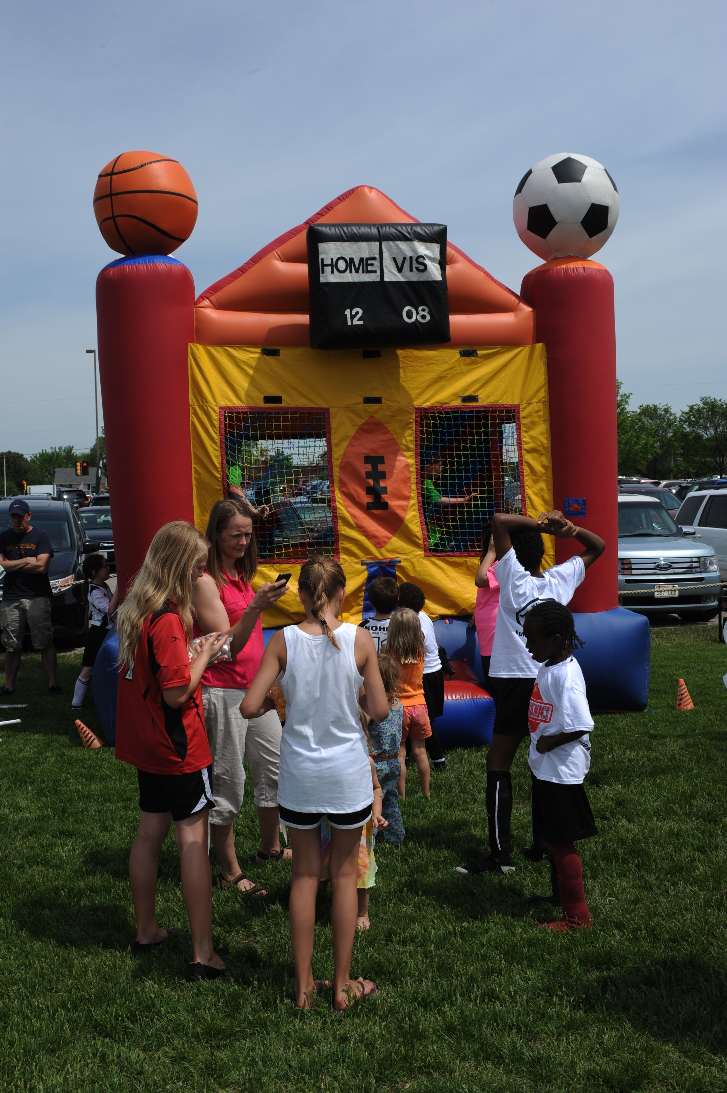 Bouncy House!!! Having fun at our 2014 Kicknic! Bouncy