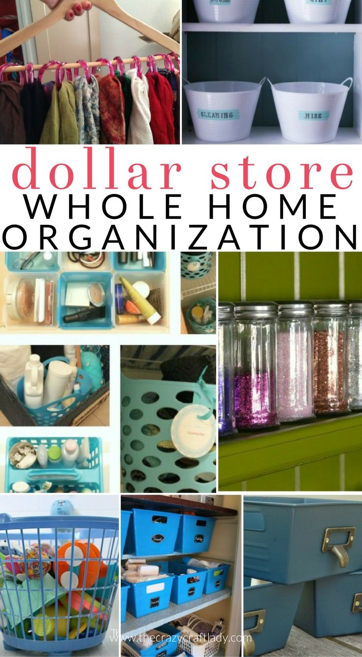 Organize Your Entire House With Dollar Store Items Dollar Store Organizing Dollar Store Organizing Dollar Store Diy Dollar Store Diy Organization