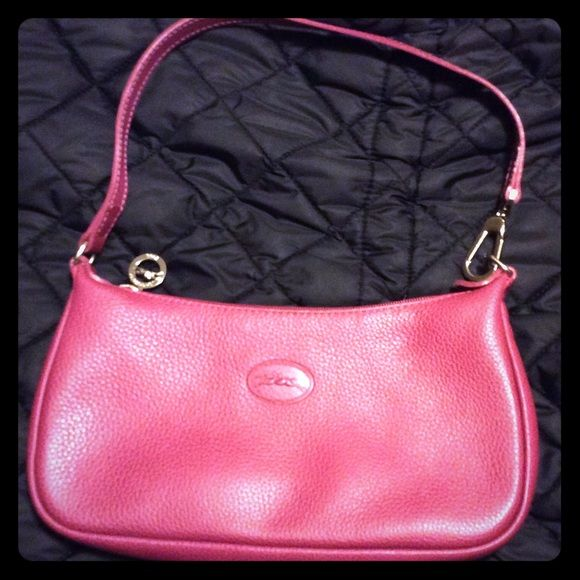 29137d99f4e Longchamp small leather fuchsia purse AUTHENTIC LONGCHAMP MADE IN MOROCCO  #2558021745 SMALL LEATHER HANDBAG PURSE, NO STRATCHES LENGHT 10