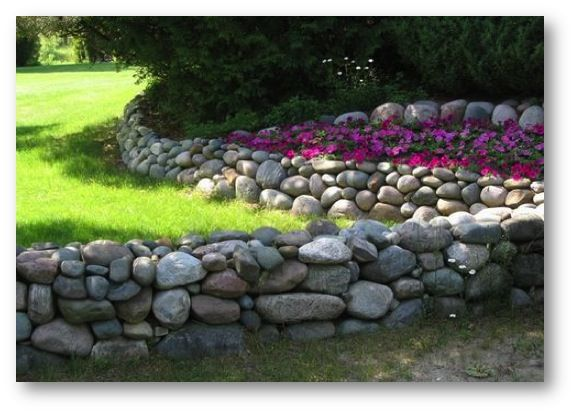 Loose Rock Border Stone Landscaping Landscaping With Rocks Backyard Landscaping