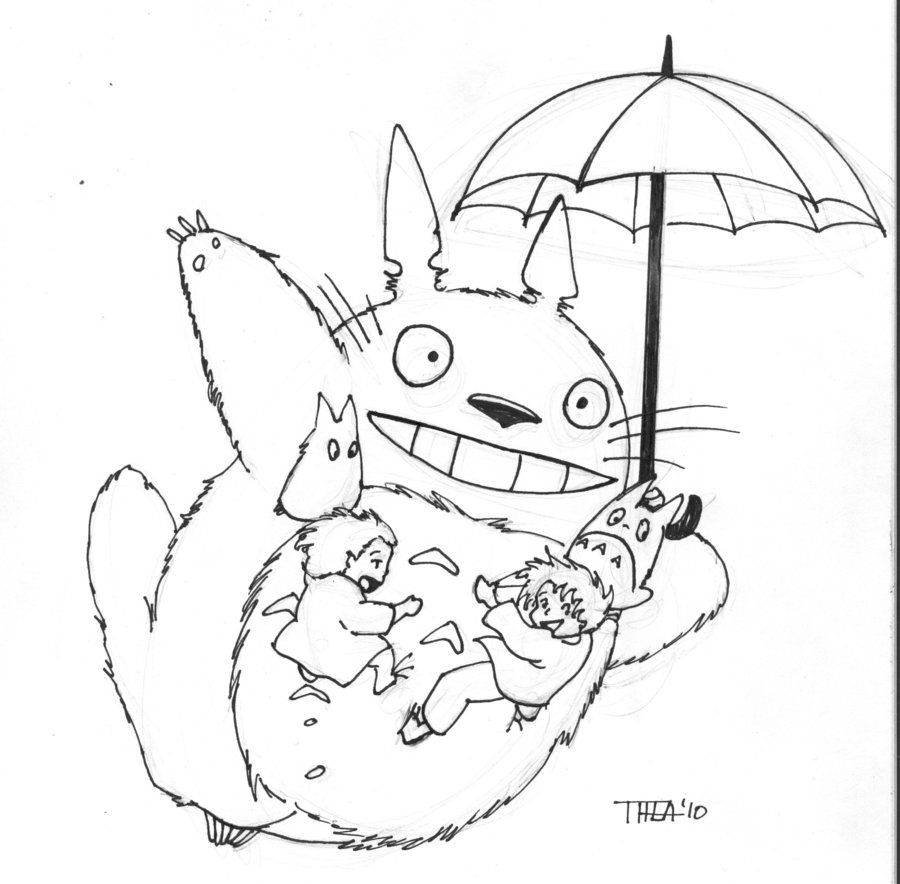 Totoro By Theamat On Deviantart Coloring Books Free Coloring Pages Coloring Pages