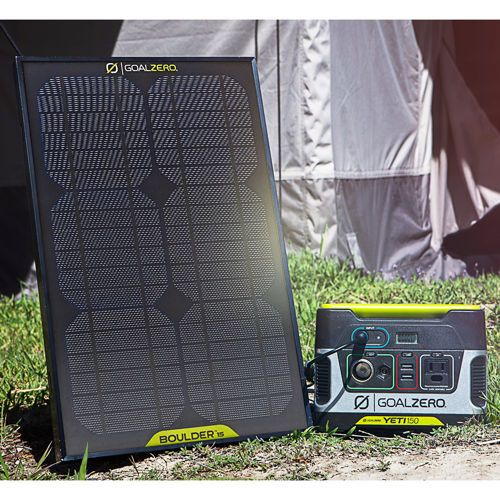 Goal Zero Yeti 150 Solar Generator Kit With Boulder 15 Solar Panel Solar Generator Solar Panels Solar