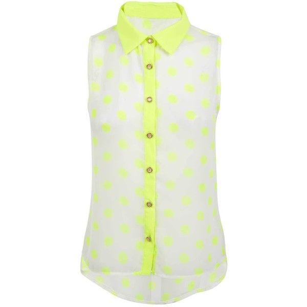 a8662e57385c52 Yellow Spot Neon Blouse - #neon - ☮k☮ | nEoN ⭐ NeOn | Yellow ...