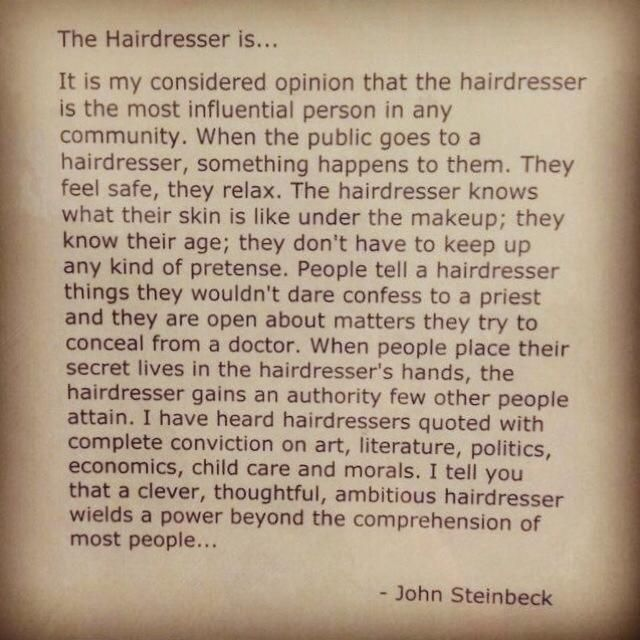 The Hairdresser By John Steinbeck  Quotes