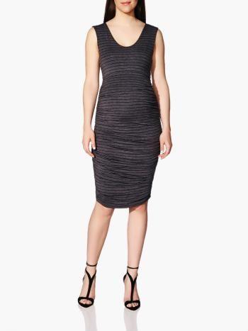 069774382cc Stork   Babe - Sleeveless Striped Maternity Dress available at ...