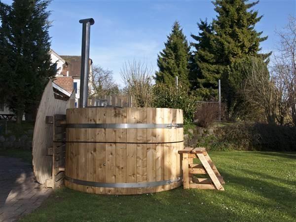badefass 160 hottub badetonne badezuber badebottich sauna. Black Bedroom Furniture Sets. Home Design Ideas