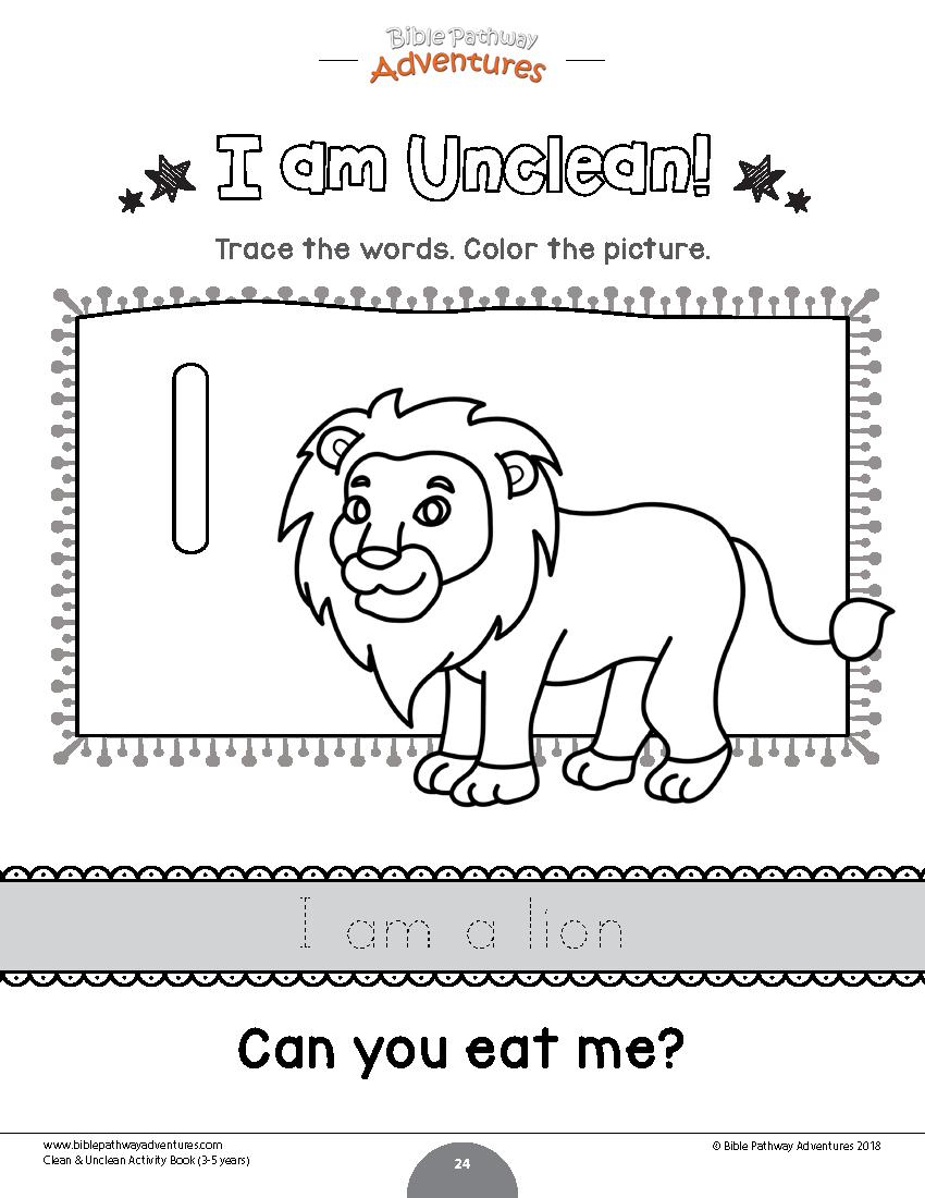 - Lion Coloring Page Animals Of The Bible Printables For Kids