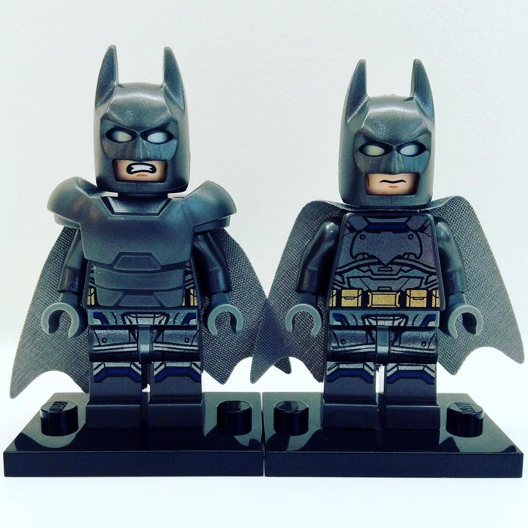 Batman with & without armour (from set 76044) . . # ...