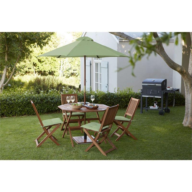 Austin Wooden 4 Seater Octagonal Garden Furniture Set Garden