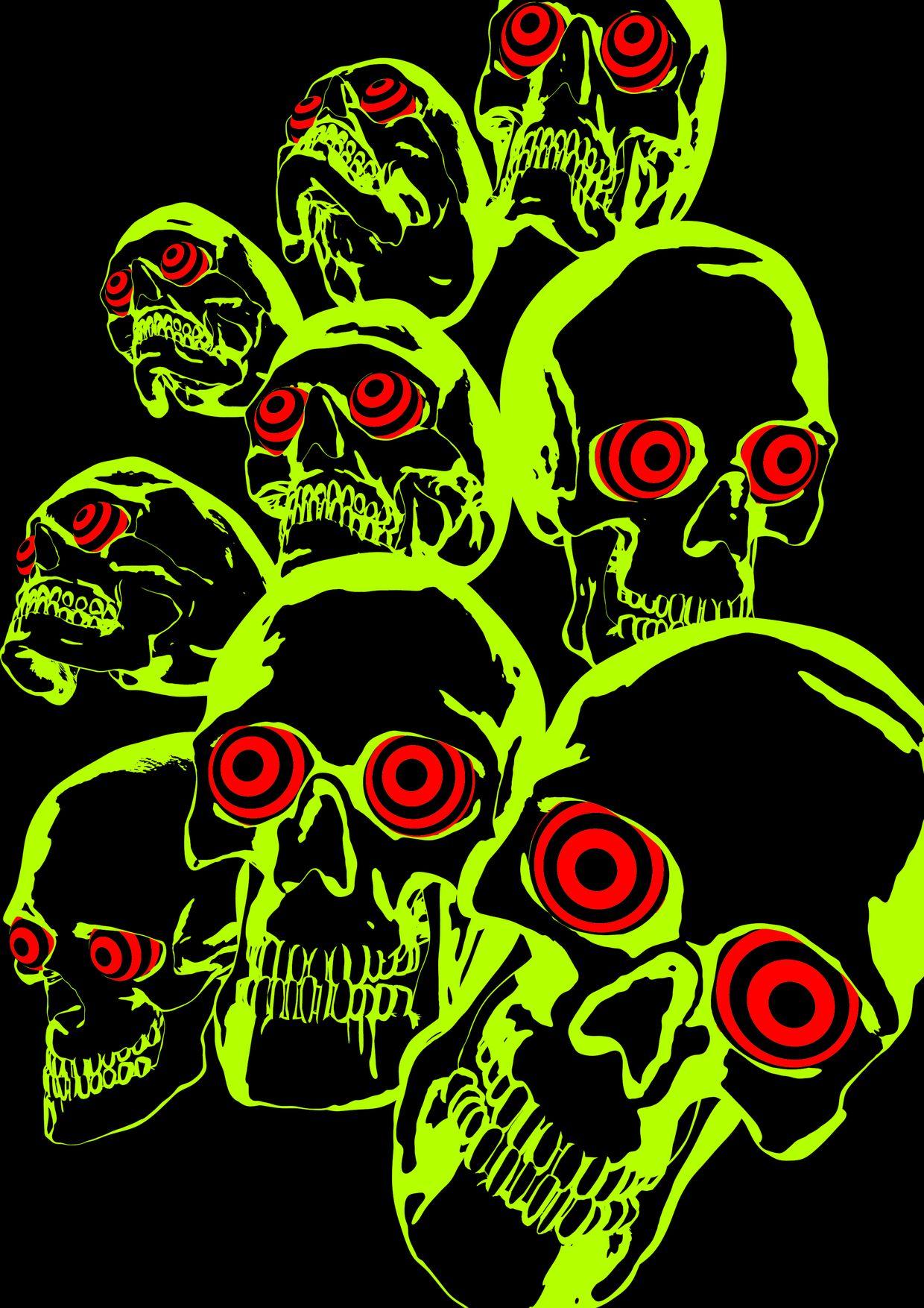 Adobe Portfolio skulls