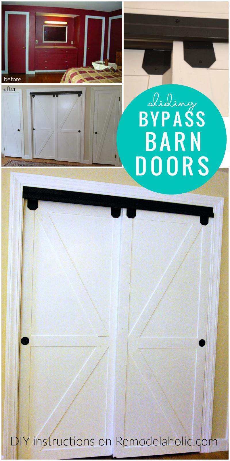 Diy Double Sliding Bypass Barn Doors Remodelaholic Bypass Barn