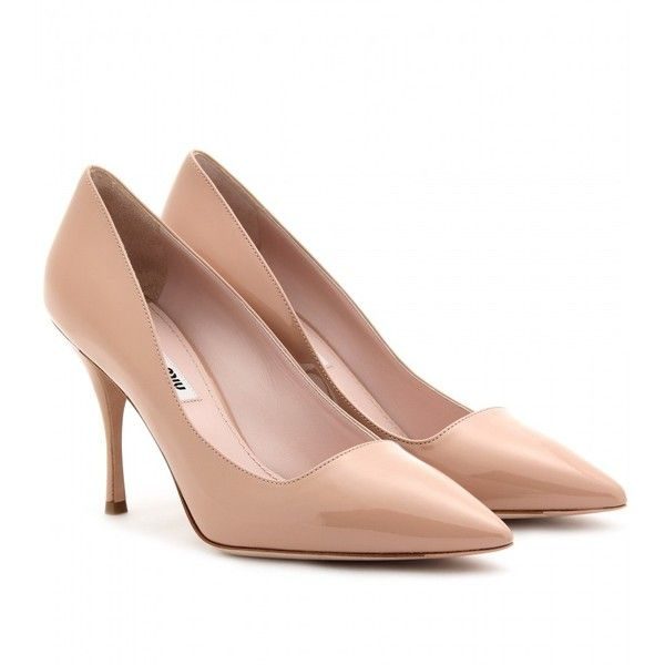 Miu Miu Patent Leather Pumps ($590) ❤ liked on Polyvore