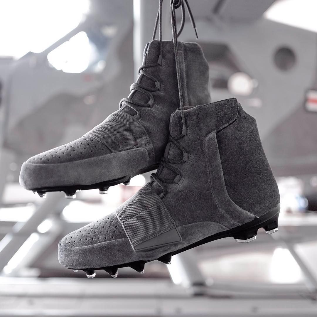 31cf33bd26820 NFL players including  thejimmygraham to wear grey suede adidas Yeezy 750  cleats this weekend for start of playoffs