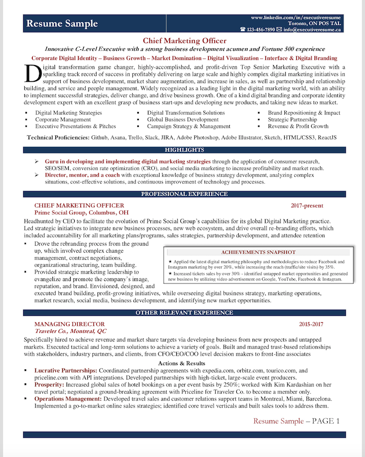 Resume Sample Chief Marketing Officer Cmo Resume Writing Services Professional Resume Writing Service Resume Writing